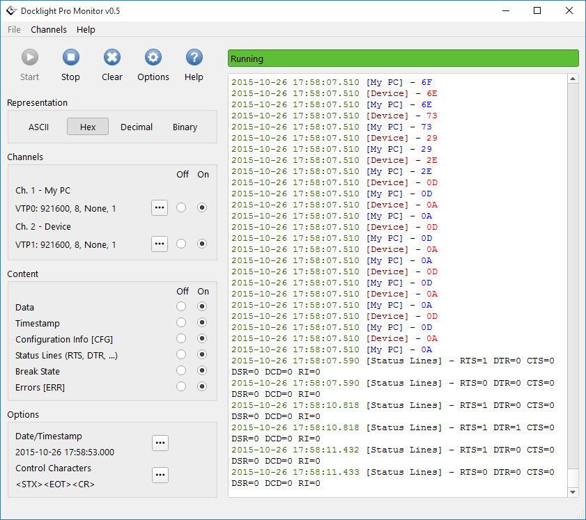 Docklight Pro Monitor Screenshot